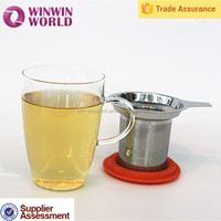 New Business Ideas Promotional Christmas Gift Creative Borosilicate Glass In Cup Tea Infusers