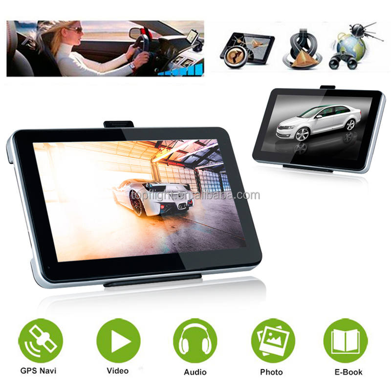 7 inch RAM128M/4GB 800MHZ CPU FM WinCE 6.0 3D Maps Muli-languages Car GPS Vehicle Navigation