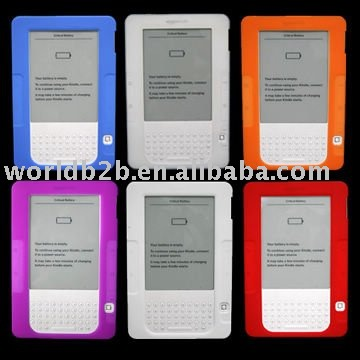 Silicon Skin case for Kindle DX /E-reader case