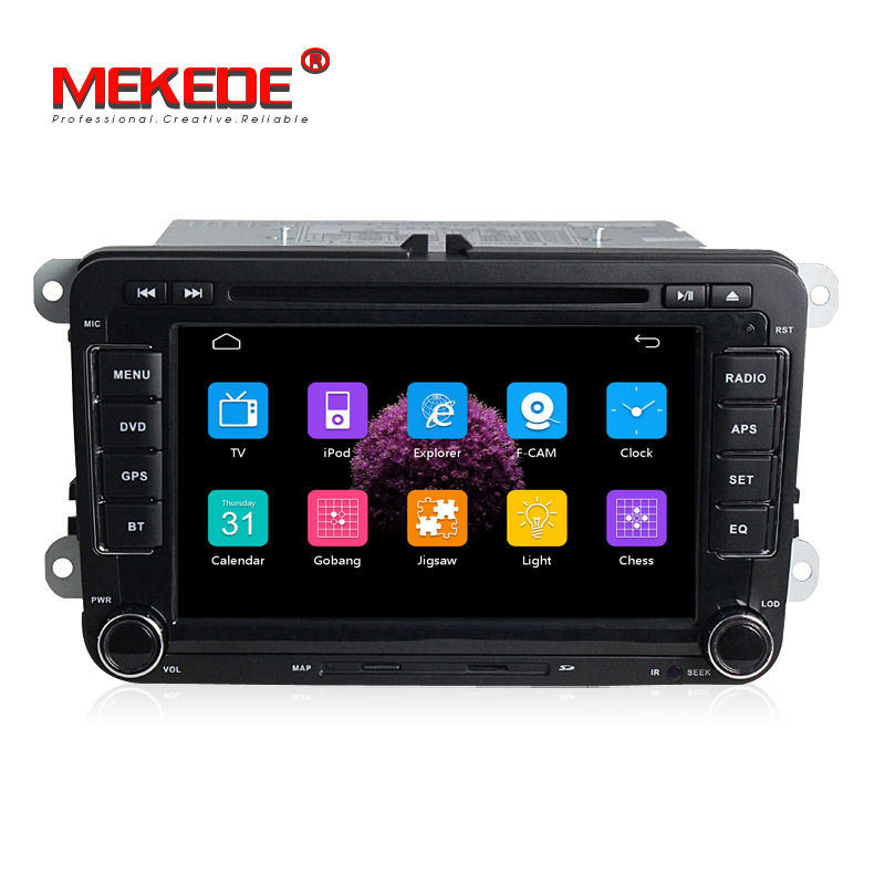 2 din Car DVD radio for VW golf 4 golf 5 6 touran passat B6 sharan jetta caddy transporter t5 polo tiguan RDS IPOD