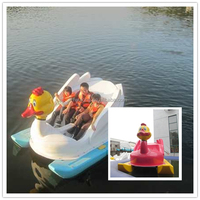 Big capacity paddleboat pedal power boats, fiberglass swan pedal two seat cheap paddle boats for sale