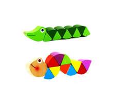 QS brand China early education mini caterpillar eco-friendly educational toys for kids