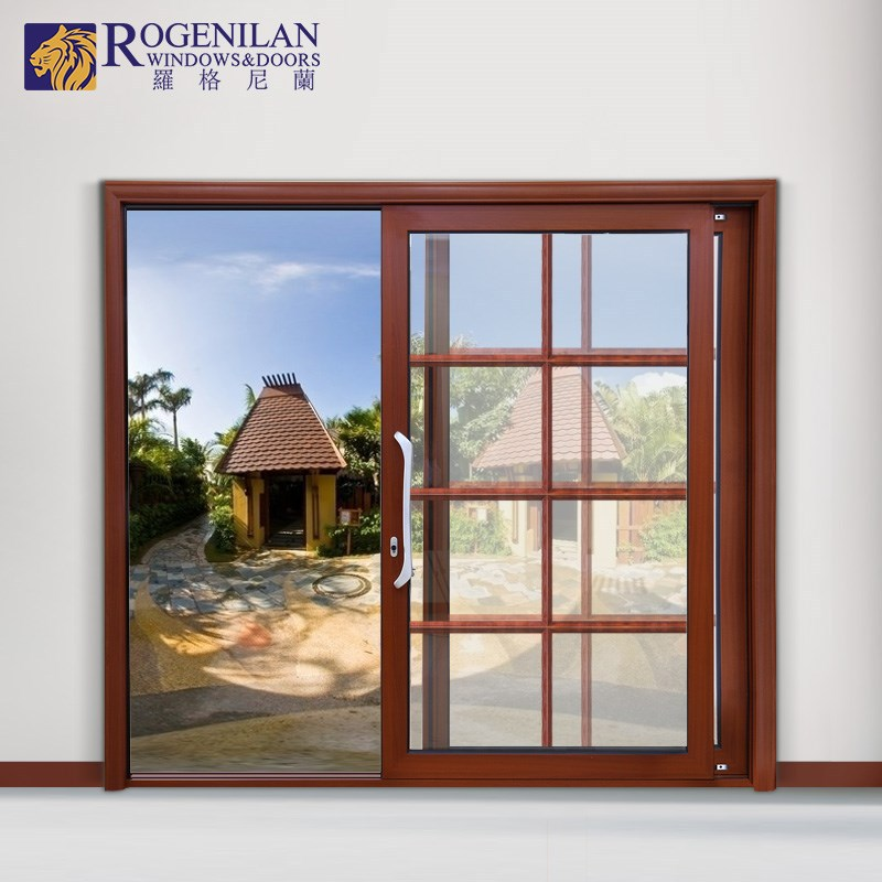 ROGENILAN 180# aluminium customized wood new style solid wooden door fancy door