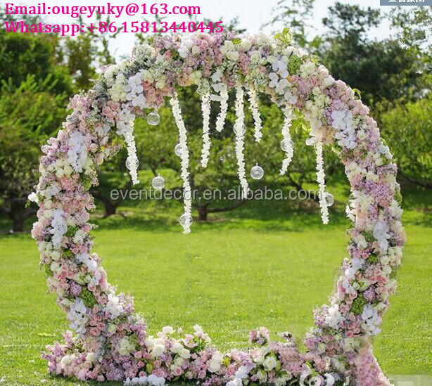 Round flower arch stand metal wedding arch for weddings decoration