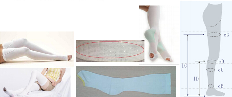 Cusotm compression medical anti embolism stockings
