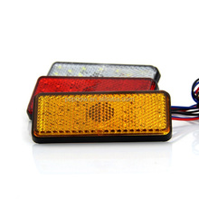 Car tail led brake flashing light with switch color red/yellow/blue/green/amber