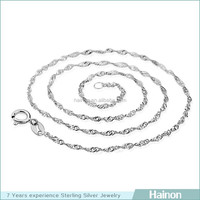 wholesale 925 sterling silver water wave chain 18k 24k rose gold colorful chain
