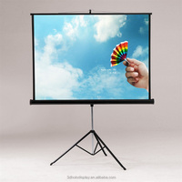 High Quality Tripod Projector Screen / Tripod Wall Mount Projection Screen