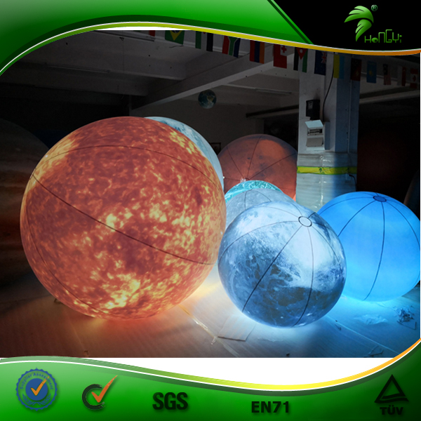 2 m Giant Inflatable LED Planet Balloon Inflatable Advertising Helium Hanging Beach Ball
