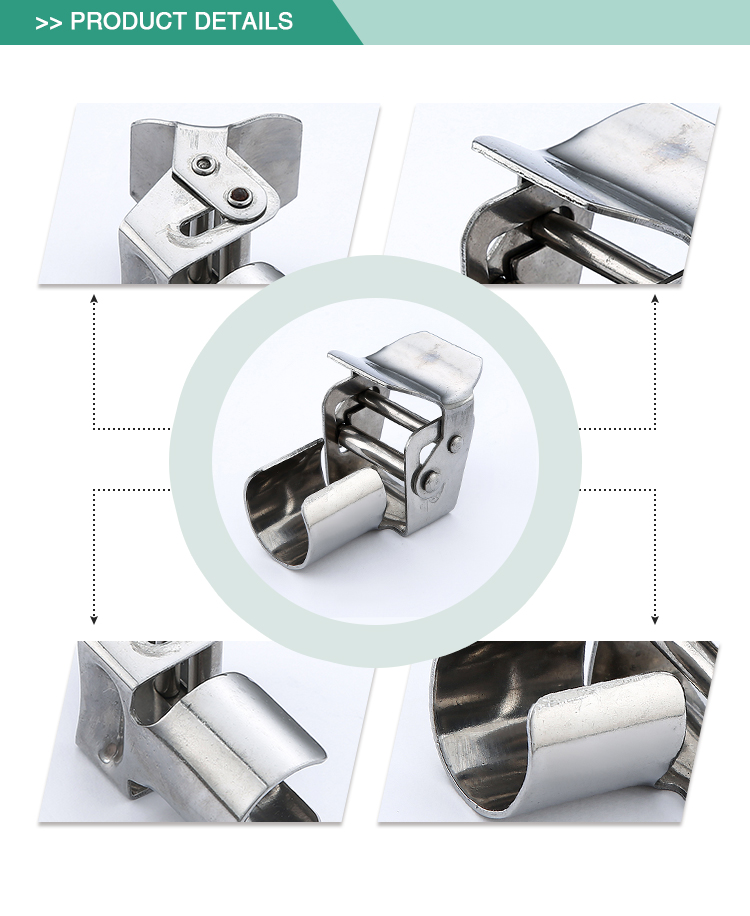 New design stable standard pipe clamp stainless steel sanitary pipe holder