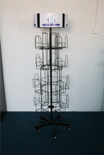 customized spinning metal post card display stand
