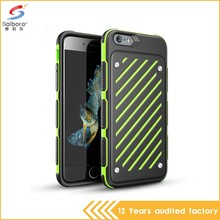 China manufacturer high quality design double color in one for iphone 6 case