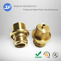 Customized CNC copper machanical components of automatic lathe turning copper joint parts brass components