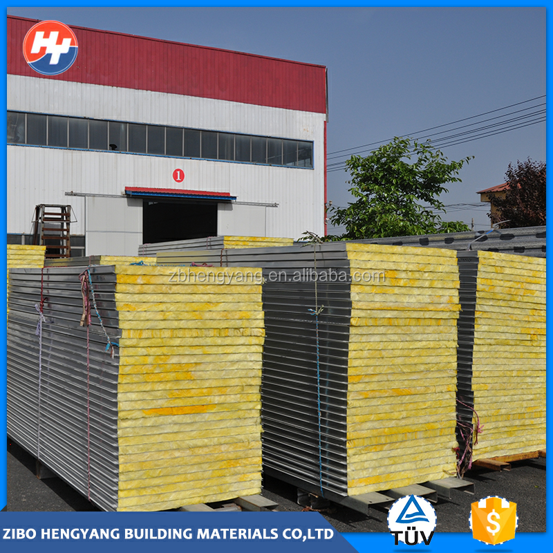 prefabricated glasswool aluminum sandwich panel price