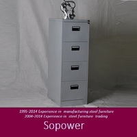Thin metal furniture vertical godrej 4 drawer steel filing cabinet