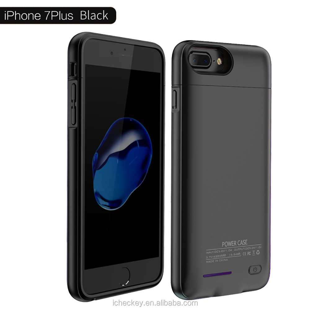 2017 New Arrival 3000 mAh battery case backup cell phone charger case for iPhone 7 external power case