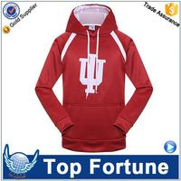Hot Sales economic unisex double hooded two tone sweatshirt/hoodies