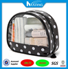 Innovative Semi-Circle Transparent Cosmetic bag made by stitching