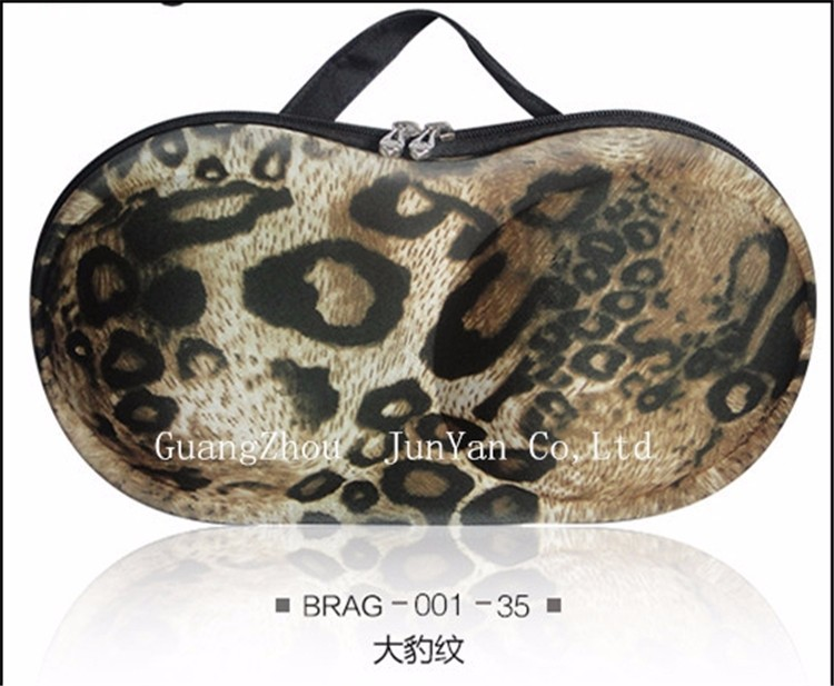 Durable Lightweight EVA leopard travel bra and panty bag
