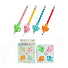 Wholesale good use correct pencil grip children Comfortable silicone writing pencil grip for children