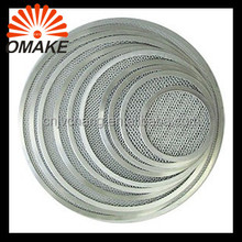 "Clearance Price Customized 6""-20"" Plain Aluminum Seamless Pizza Tray, Expanded Mesh Wire Pizza Screen"