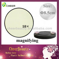 Fashion 10x magnifying mirror with sucker CM020/magnifying glass mirror/magnifying makeup mirror