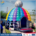 New inflatable disco dome bounce house inflatable disco castle for sale