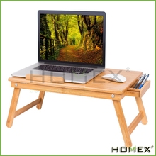 Multi-Position Laptop Desk w Pull Down Legs Storage Drawer Homex-BSCI Factory