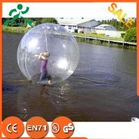 Promotional price!! PVC/TPU Germany Zipper inflatable water ball,inflatable rolling ball,human in ball