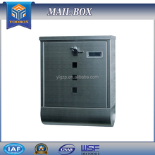 2017 Yoobox Update Germany Modern Metal Stainless Steel Mailboxes Cabinet with Window