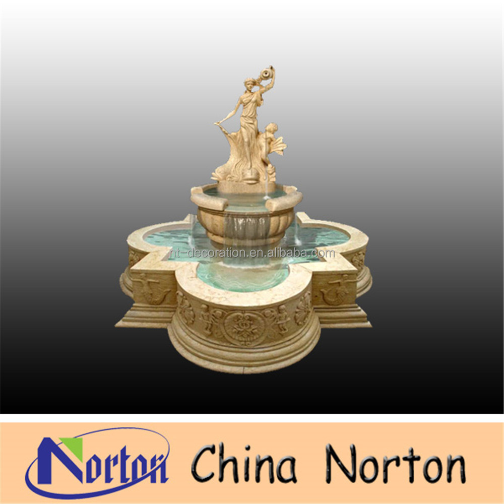 outdoor jar fountain virgin mary marble fountain NTMF-SA202R