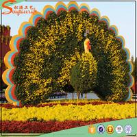 New stylize aritificial topiary in artificial grass large garden decoration artificial topiary animals