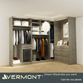 Men's Robe Mealmine Finish Double Color Wardrobe Design Furniture Bedroom With LED Light
