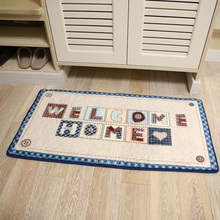 Welcome home plain printed loop pile the bedroom living room door mats non slip carpet