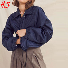 Blank wholesale clothing New fashion Custom Made Nylon Bomber Women jackets