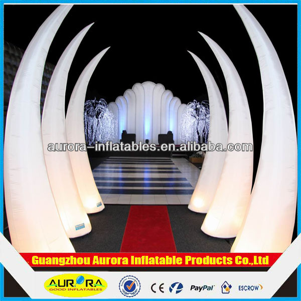 Factory price CE lighting inflatable rhino horn