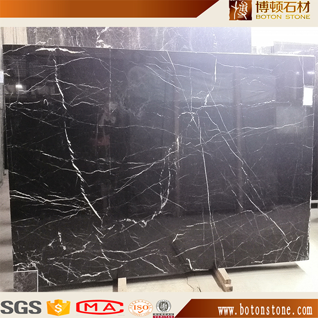 less white vein nero marquina black marble from China