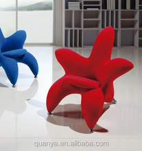 Lily Living room upholstery in fabric flower shaped leisure chair
