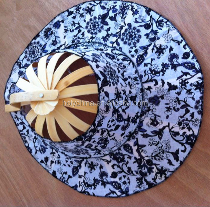 hot sale high quality bamboo folding fan hats