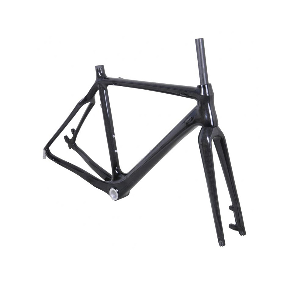 High quality quick release UD Matte or Glossy T700 carbon cyclocross bike frame disc brake FM059