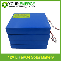 12v 12Ah best battery for solar power with good price customised lifepo4 battery pack for solar storage system