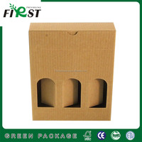 Corrugated paper material custom order wine carton box,High Quality Wine Paper Box
