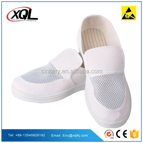China Manufacturer White Leather Safety ESD Shoes
