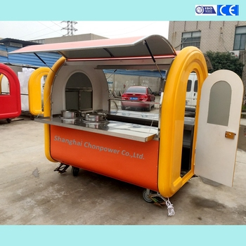 CP-A 230165210 Factory directly sell 2 service windows food cart van hot food transport cart With Wholesale Price
