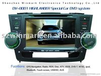 8 inch HD in dash special car dvd for Highlander