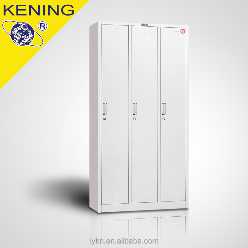 Simple 3Door Metal Clothing Lockers /Wardrobe