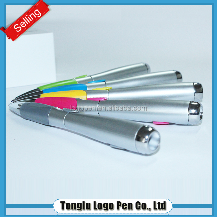 plastic ball pen with led light