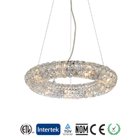 High Brightness Crystal Material G9 Pendant Ceiling Light