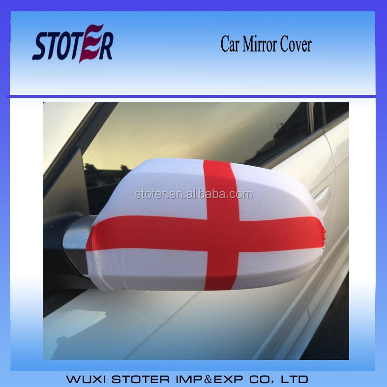 Fashion England car mirror cover Elastic custom printed car side mirror flag cover