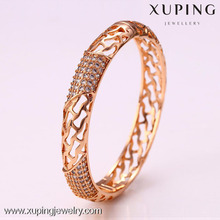 50923 Xuping ladies fancy designer unfinsihed wooden indian glass bangles